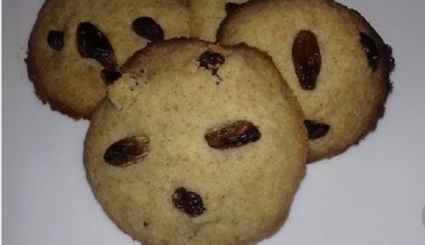 Raisins Cookies with Barley and Chia Seeds! Easy Recipe
