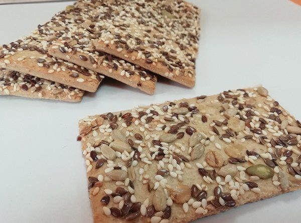 Keto Crackers with Almond Flour AND Seeds (Gluten-Free Recipe)