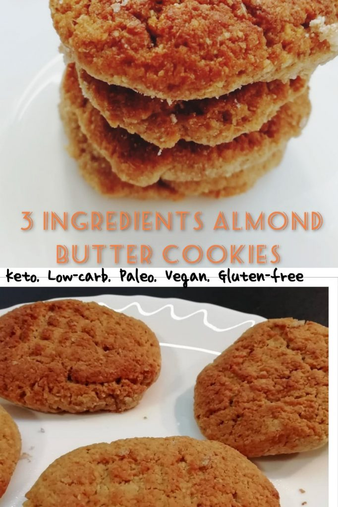 Low-carb almond butter cookies