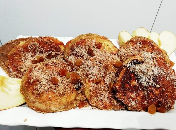 Apple Pancakes with Buckwheat Cover, Easy Recipe