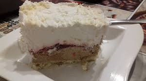 Cherry Jello Ice Cake with Sour Cream - Low Carb Recipe