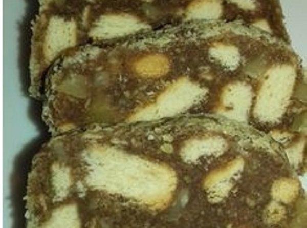 Chocolate Salami Graham Crackers & Nuts (Gluten-Free Recipe)