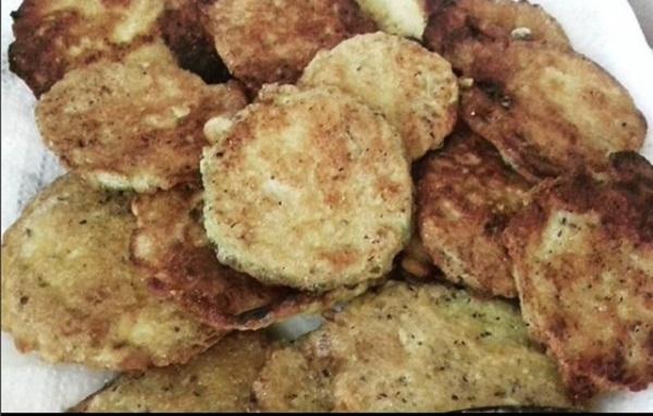 Fried Zucchini with Almond Flour (Paleo, Keto Recipe)