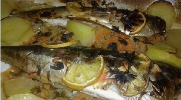 Roasted Mackerel with Vegetables - Healthy, Paleo Meal